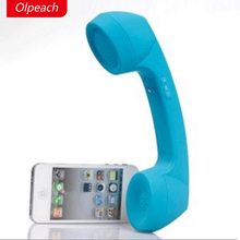 Wholesale Olpeach Wireless Fashion Funny Retro Telephone Handset and Wire Radiation-proof Handset Receivers Headphones for a mobile phone