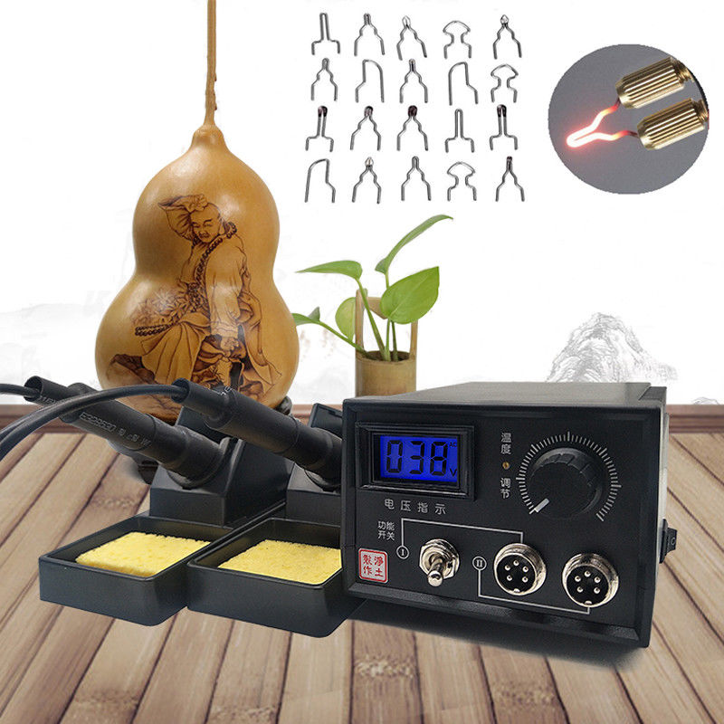 220V/110V 60W DIY Craft Multifunction Pyrography Machine With Pyrography Pen  Wood Burning Pen Craft Tool Kit Sets