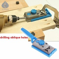 2 In 1 Pocket Hole Jig System Drill Guide Wood Dowelling Joinery Clamping Jig For Woodworking