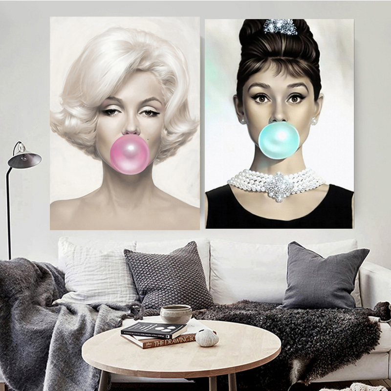 Marilyn Monroe Audrey Hepburn Quotes Canvas Painting Prints Posters Wall Pictures For Living Room Wall Art Home Decor No Frame