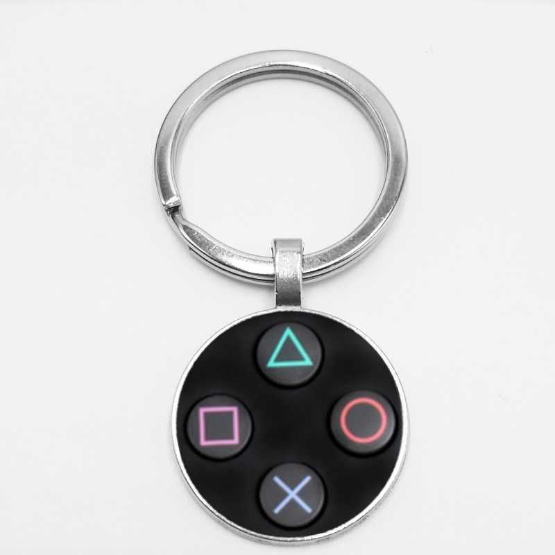 HOT! Game Controller Key Chain Playstation Perfect Gift Creative Jewelry Video Game Controller Pattern Keychain Gifts for Men