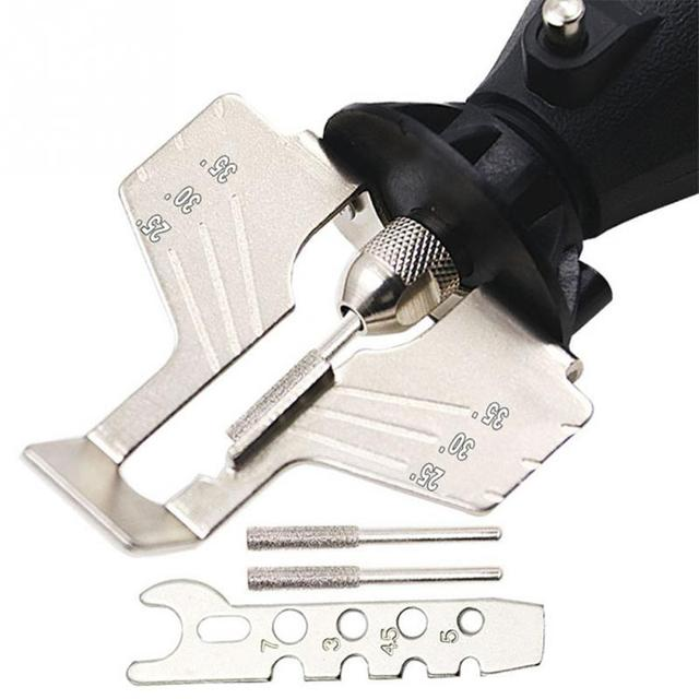 Schärfen Befestigung, Kettensäge Zahn Schleifen Werkzeuge Verwendet mit Elektrische Grinder, Zubehör für Schärfen Outdoor Garten Werkzeug