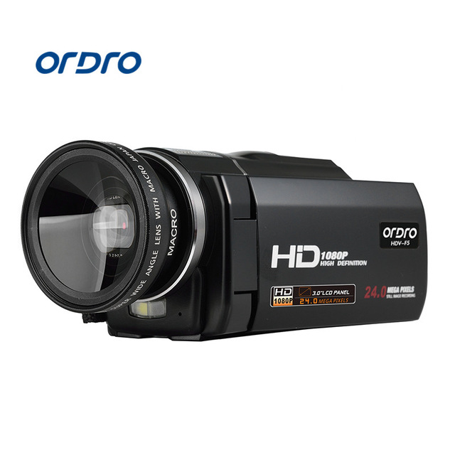 ORDRO 1080P HD HDV-Z8 3.0 Inch TFT LCD Touch Screen Camcorder 24MP 16X Digital Zoom Camera Anti-shake CMOS teer h800 1 6 tft display screen 120 wide angle hd 2 0mp cmos 1080p hfd camcorder black silver