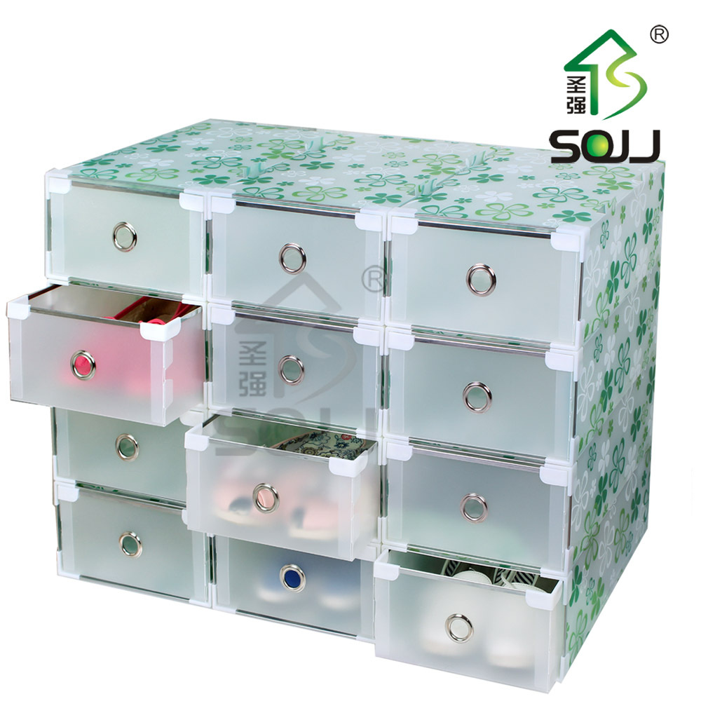 plastic storage containers drawers thickening transparent shoebox metal drawer hemming plastic. Black Bedroom Furniture Sets. Home Design Ideas