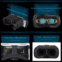 GETIHU VR BOX 2.0 II Google 3D Glass Glasses VR Glasses Virtual Reality Case Cardboard Headset Helmet For iPhone Mobile Phone