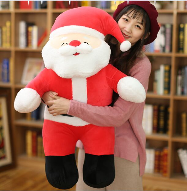 creative plush toy squintting eyes Santa Claus,large 80cm Father Christmas soft doll hug pillow,Christmas gift h0298 cartoon christmas santa claus printed home decor pillow case