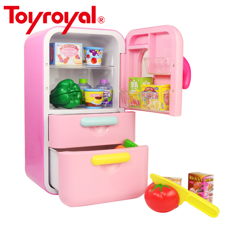 Refrigerator Kitchen Pretend Play Toy Set With Play Food Kit High Quality Interactive Educational Toys for