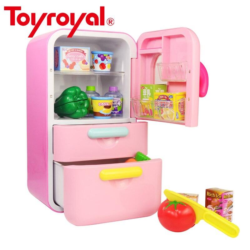 Réfrigérateur cuisine semblant jouer jouet ensemble avec jeu alimentaire Kit de haute qualité interactif jouets éducatifs pour enfant en bas âge cadeau