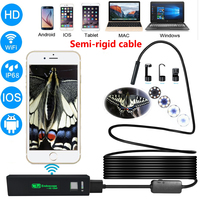 Endoscope HD 720P Wifi Camera 8mm 1200P Borescope IP68 Waterproof Camera Endoscopio Flexible Hard Tube Wifi