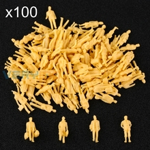 Смешанная модель поезда 1: 87 масштаб Хо неокрашенные люди макет фигурки прохожих 100 шт