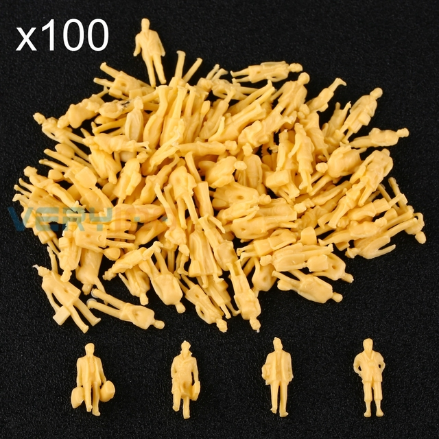 Aliexpress com : Buy Mix Model Train 1:87 Scale HO Unpainted People Layout  Figures Passangers 100pcs from Reliable scale ho suppliers on