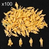 Mix Model Train 1 87 Scale HO Unpainted People Layout Figures Passangers 100pcs