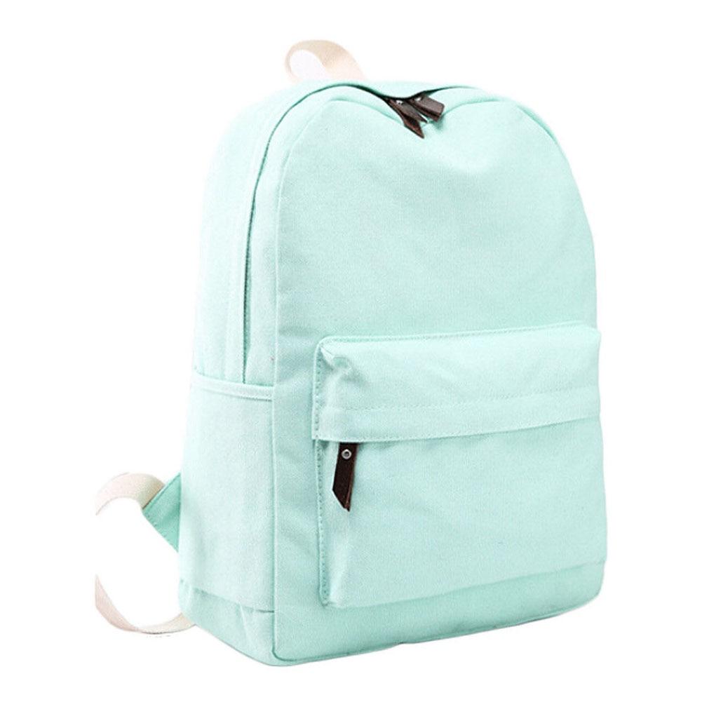 Обувь для девочек Для женщин холст школьная сумка Дорожная Рюкзак сумка рюкзак Лот № 6 зеленый ...