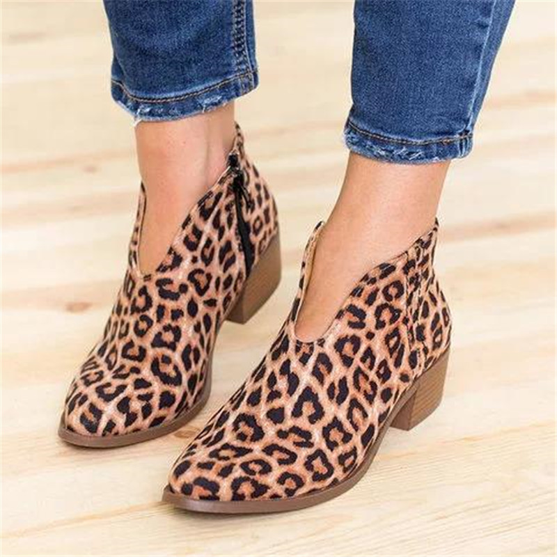 COOTELILI Ankle-Boots Heels Casual-Shoes Flock Chelsea Faux-Suede Female Botas Woman