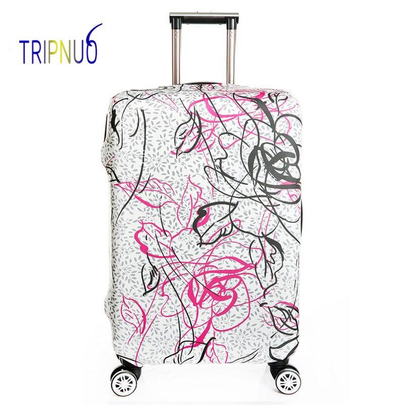 TRIPNUO упругой Граффити Чемодан защитная крышка, Suitable18-32 дюймов, троллейбус случае чемодан Пылезащитный чехол дорожные аксессуары