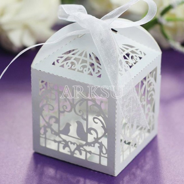 Aliexpresscom Buy 100pcs Laser Cut Bird Candy Boxes Sweets Box
