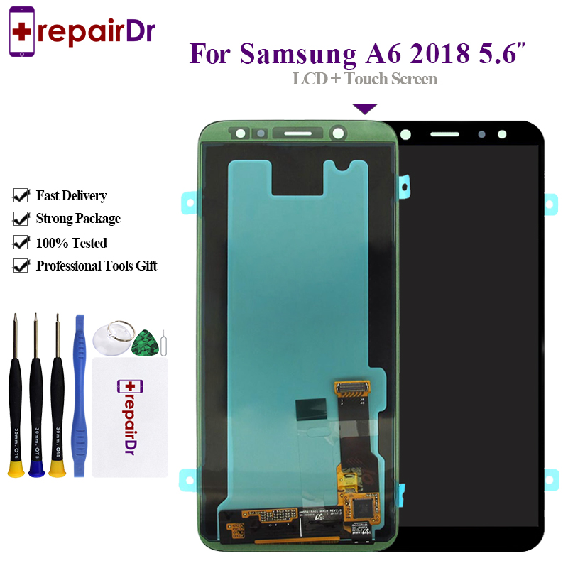 5.6 For SAMSUNG Galaxy A6 2018 LCD Display Touch Screen Digitizer Assembly A600F A600FN A600 For SAMSUNG A6 2018 LCD Screen5.6 For SAMSUNG Galaxy A6 2018 LCD Display Touch Screen Digitizer Assembly A600F A600FN A600 For SAMSUNG A6 2018 LCD Screen