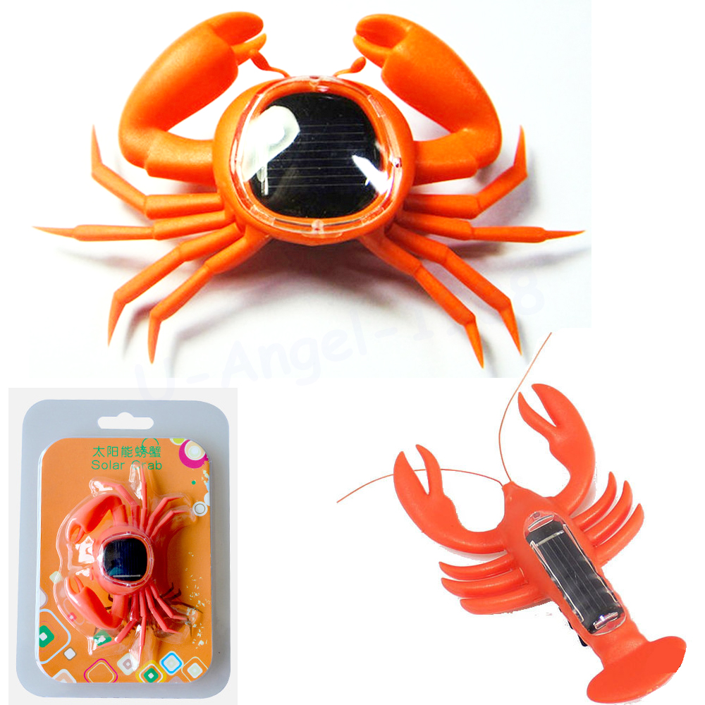 1pcs Learning Educational Creative Solar Powered Mini Running Crab / Solar Power Lobster for Children Teaching Gadget Gift