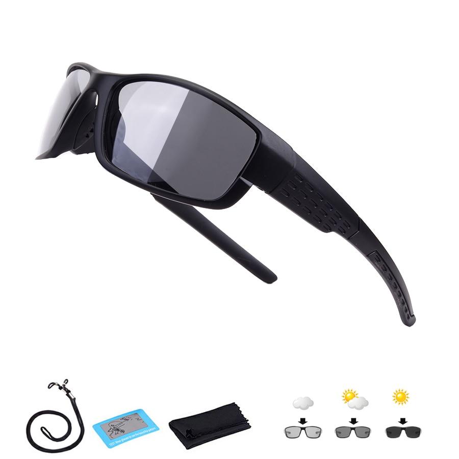 Polarized Photochromic Cycling Glasses Men Women Road Mountain Bike Sunglasses UV400 Bicycle Eyewear Riding Sport Goggles