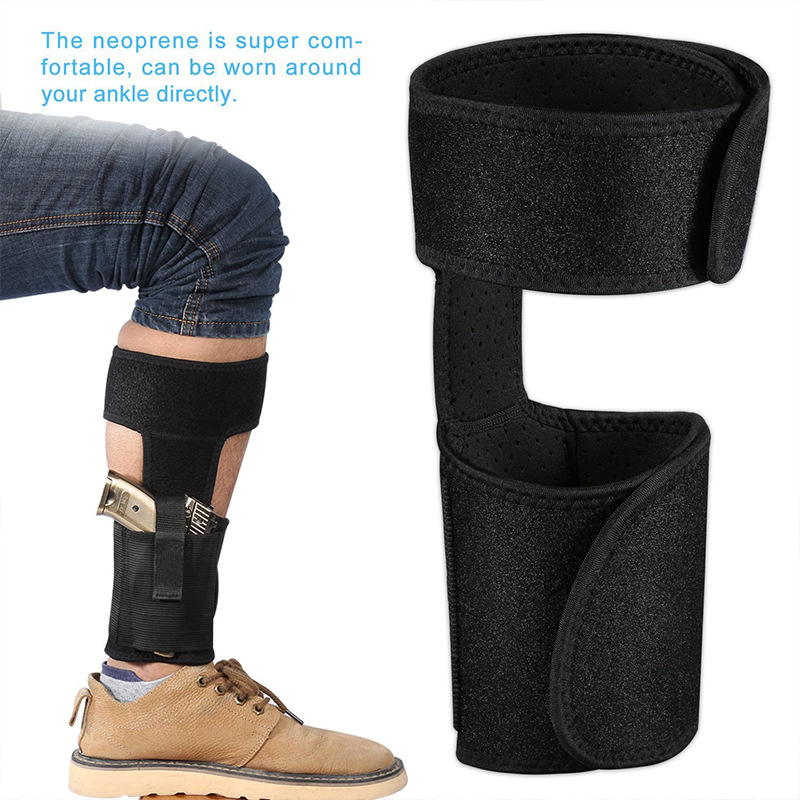 2019 New Style 1pcs Adjustable Concealed Carry Ankle Leg Holster Magazine Pouch Concealed Pistol Carry Bb55 Pure Whiteness Security & Protection
