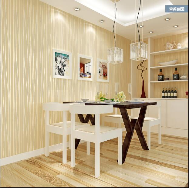 ФОТО 2017 Simple striped wallpaper Bedroom non-woven  wall paper living room wall TV wall  papel de parede  HE124