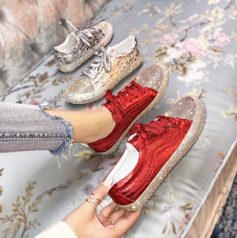 New 2019 Fashion Casual Shoes Expensive Diamond Women Sneake