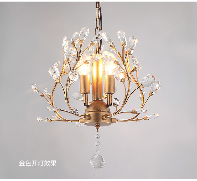 American Luxury Crystal Chandeliers Pastoral Crystal Lights Living Room Bedroom Chandeliers Post Modern Restaurant Crystal Lamp 3 4 6 8 head american pastoral sitting room dining room study bedroom chandeliers cloth art act the role ofing