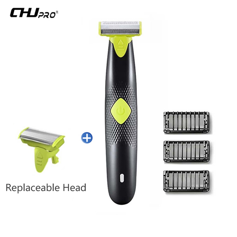 CHJ Oneblade Shaver USB Rechargeable Shaving Machine Shaver Razor Lightweight Electric Shaver For Men Trimmer Barbeador free shipping pritech body waterproof slience 3 head electric shaver shaving barbeador for men the blue color