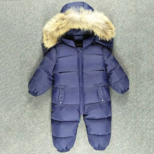 Children Winter Jumpsuit Fur Baby Winter Romper Kids Winter Overalls Warm Boys Snowsuit Down Baby Jumpsuit Long Sleeve