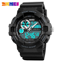 SKMEI Outdoor Sports Watches Waterproof Men Digital Watch Chronograph Dual Time Male Wristwatches Clock Relogio Masculino 1312 цена