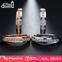 Queen Cute Romantic Style Earrings Jewelry Gold -color Paved with AAA Cubic Zircon Stud Earrings for Women DDE34