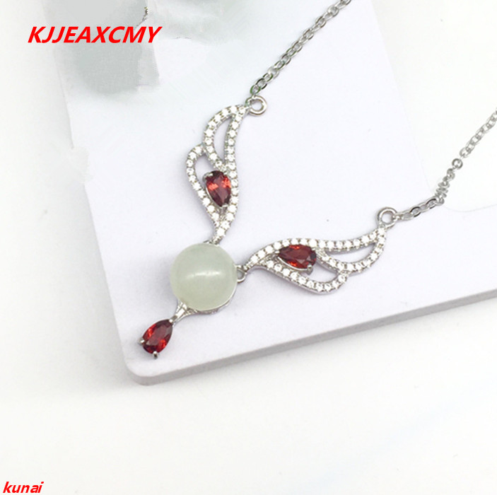 KJJEAXCMY boutique jewels 925 silver inlaid with natural jade, small wings, female Style Pendant (necklace), wholesale female geKJJEAXCMY boutique jewels 925 silver inlaid with natural jade, small wings, female Style Pendant (necklace), wholesale female ge