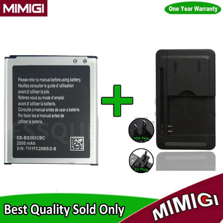 1 Satz = 1 STÜCK JESSQUE 2000 mAh Batterie Für Galaxy G360 G3608 G3606 G3609 AKKU ACCU Für Samsung SM-G360BT + 1 STÜCK Ladegerät