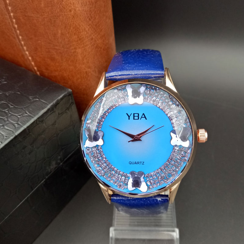 YBA Watch Women Exquisite Top Luxury Diamond Quartz Ladies Watch Fashion Leather Wristwatch Women watches saat relogio feminino tophill original fashion watch luxury brand diamond quartz wristwatch for women original genuine leather luminous watch ab1855