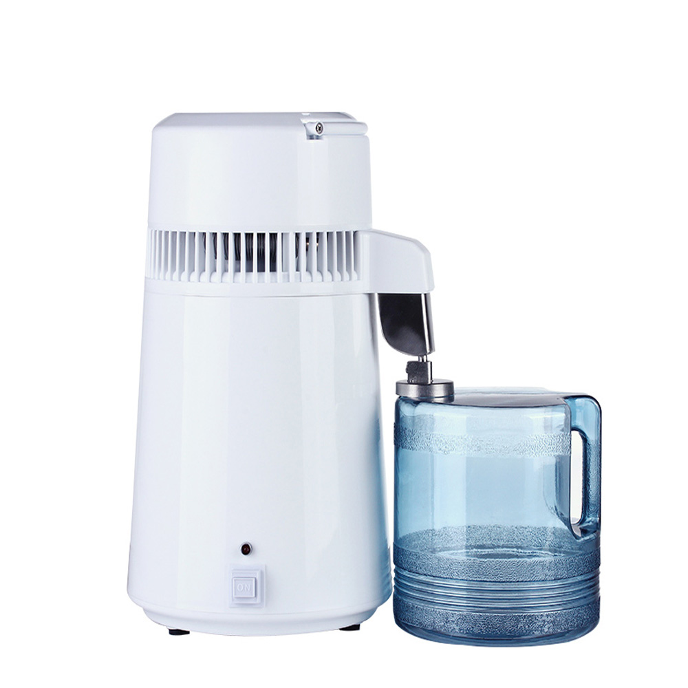 Household 4L Home Pure Water Distiller Machine Protable Distilled Water Distillation Purifier Filter Stainless Steel Plastic Jug
