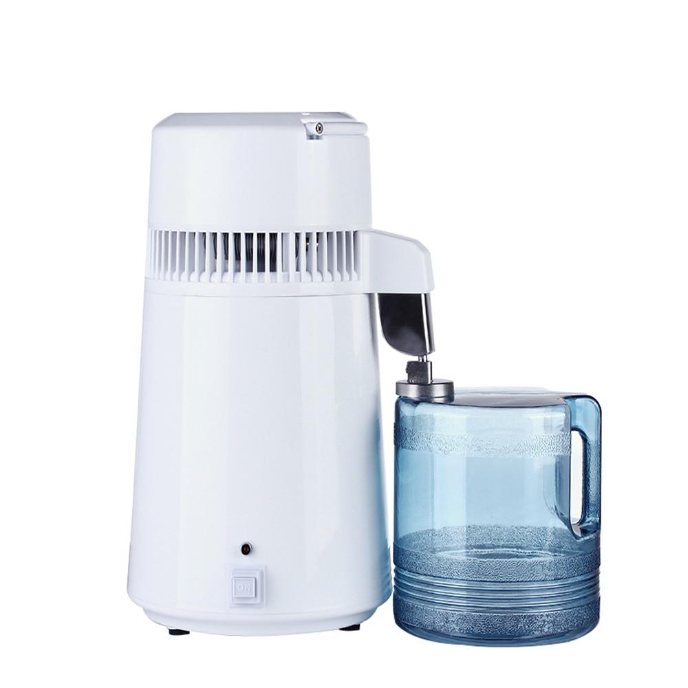 Household 4L Home Pure Water Distiller Machine Protable Distilled Water Distillation Purifier Filter Stainless Steel Plastic Jug