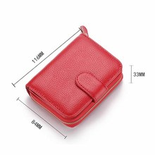 2019 Genuine Leather Men Wallets with Coin Pocket Women Purse Hasp Male Money Clutch Bag Business Credit Card Holder Wallet W260