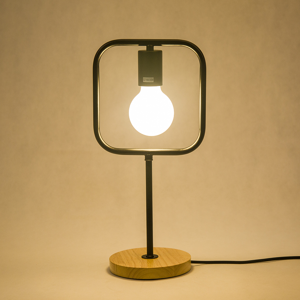 contemporary table lighting. Aliexpress.com : Buy Modern Led Table Light, Black Iron Simple E27 Solid  Wood Base Design,Bedside Desk Light Lamp 110V 220V For Bedroom/Office From Contemporary Table Lighting