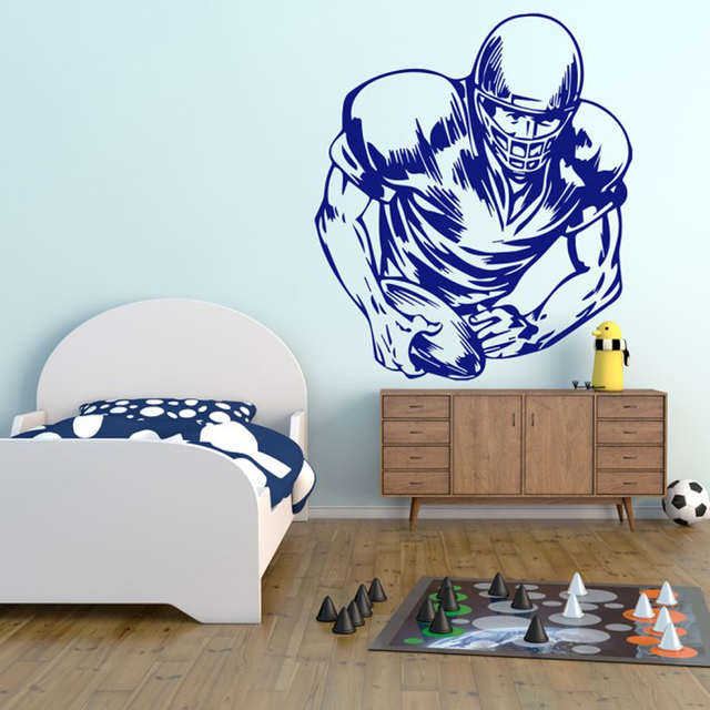 american football player sketch wall decals bedroom sports wall