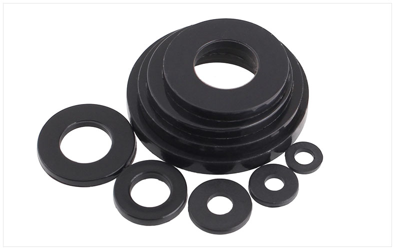 Carbon steel washers flat washer meson black M2 M2.5 M3 M4 M5 M6 M8 M10 M12 M14 M16 M18 M20 M22 M24 M27 M30 washer pad 50 pieces metric m4 zinc plated steel countersunk washers 4 x 2 x13 8mm