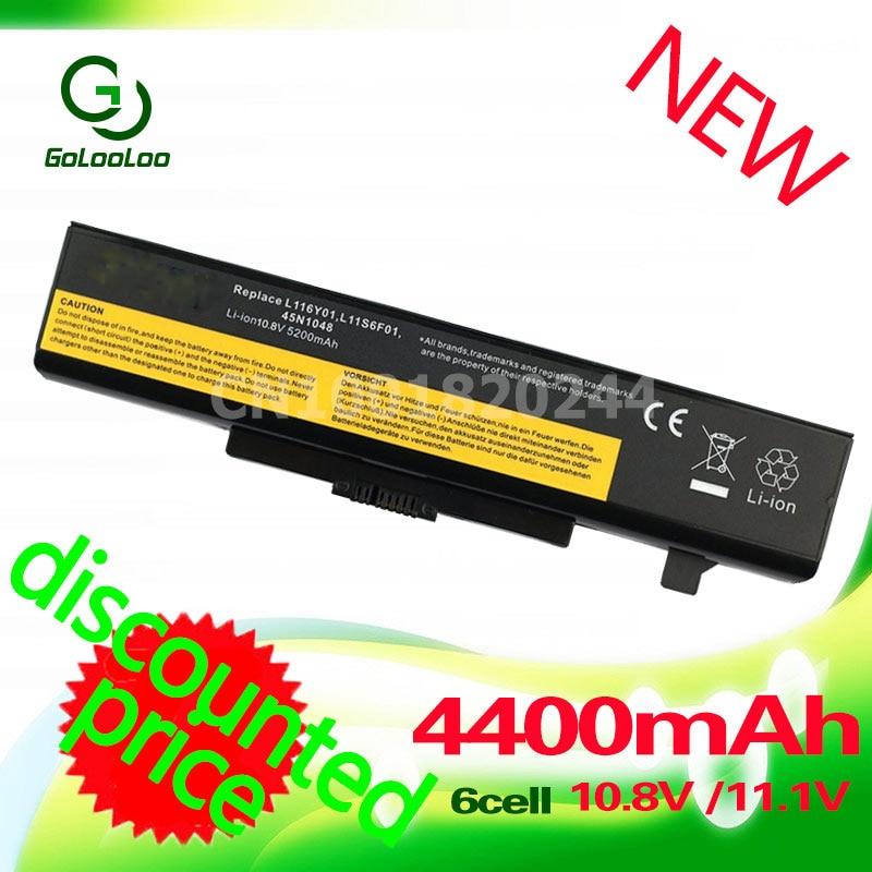 Golooloo 4400mah Battery for LENOVO G580 Y480 L11L6Y01 L11L6F01 L11L6R01 L11N6Y01 L11M6Y01 L11N6R01 L11P6R01 L11S6F01 L11S6Y01 new 6 cells laptop battery for lenovo g580 z380 z380am y480 g480 y580 g580am l11s6y01 l11l6y01