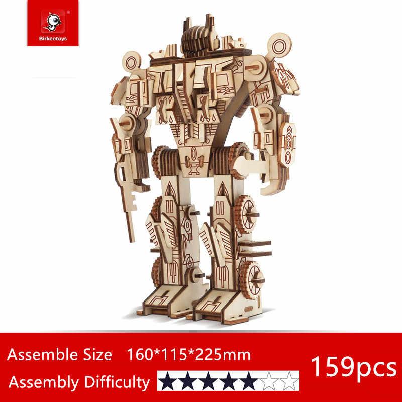 WoodCraft ASSEMBLY ชุดไม้ 3D หุ่นยนต์ชุดชุดวิทยาศาสตร์งานอดิเรกของเล่นเด็กวัยรุ่นผู้ใหญ่ Action FIGURE