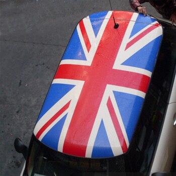 Czerwony flaga union jack styl KK samochód szyberdach na dachu naklejki naklejki Auto DIY dekoracji samochodu stylizacji dla MINI COOPER R56 samochodu Accessoriers