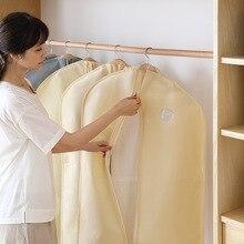 Garment Bag Cover Suit Dress Storage Non-woven Breathable Dust Protector Travel Carrier Covesuit suit cover clothes