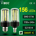 2017 NEW E27 E14 No Flicker LED Lamp bulb Smart IC AC220V 110v Corn Light 5736 SMD 12W 15W Lampada Led Spotlight for Chandelier