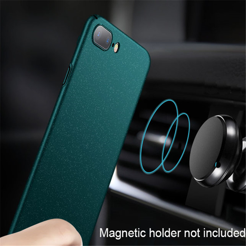 Aixuan For iPhone 8 Plus Case Adsorption Car Holder Magnetic Case For iPhone 8 Hard Back Cover  With Glass Film