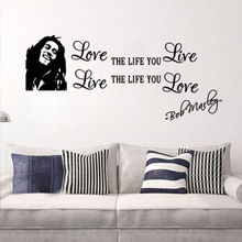 Love the life you live BOB MARLEY vinyl wall decal quote