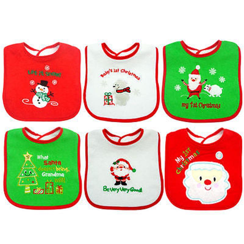 First Christmas Baby Bib Saliva towel Embroidered Keepsake Christmas Gift