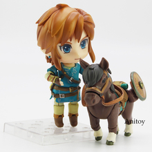 Legend of Zelda Breath of the wild Link 733 DX/ 733 Edition Nendoroid Doll PVC Action Figure Collectible Model Toy 10cm