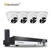 EINNOV 1080P 2MP Security Camera System POE NVR 4pcs 1920 1080 ONVIF With Audio POE IP
